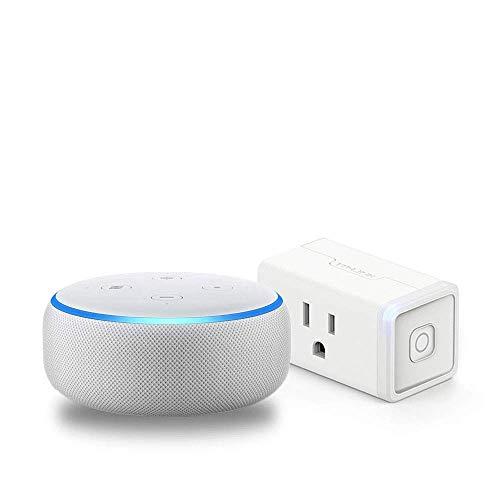 Echo Dot (3rd Gen) Sandstone Bundle with TP-Link simple set up smart plug