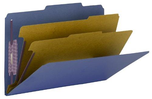 Smead PressGuard Classification File Folder with SafeSHIELD Fasteners, 2 Dividers, 2