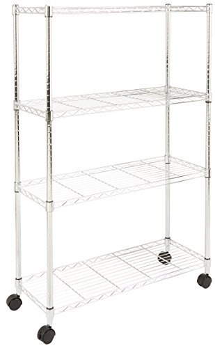 AmazonBasics 4 Shelf Shelving Unit Wheels