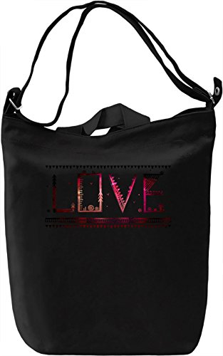 Love Borsa Giornaliera Canvas Canvas Day Bag| 100% Premium Cotton Canvas| DTG Printing|