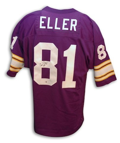 Coa - Eller Carl Sports Store At Collectibles Autographed Jersey Throwback Ape Vikings Purple Minnesota Amazon's