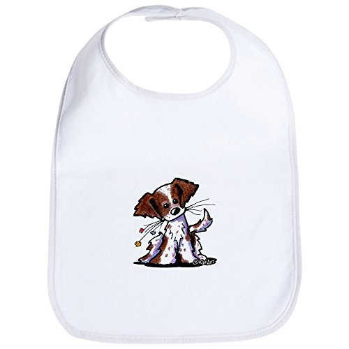 - CafePress Tiny Liver Brittany Bib Cute Cloth Baby Bib, Toddler Bib
