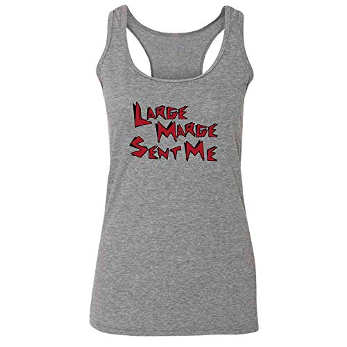 Pop Threads Large Marge Sent Me Funny Heather Charcoal XL Womens Tank Top