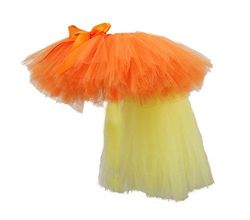 Tutu Dreams Orange Pony Tutus for Toddler Girls with Yellow Train (Small, orange)