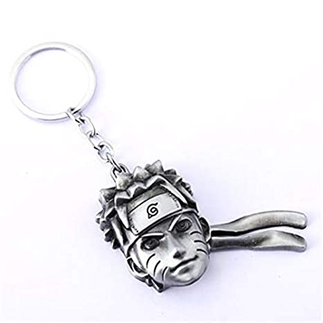 Amazon.com : Key Chains - Anime Uzumaki Naruto Head Metal ...