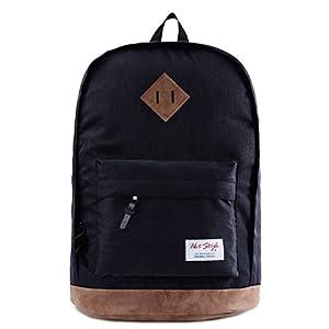 936Plus College School Backpack Travel Rucksack   Fits 15.6″ Laptop   18″x12″x6″