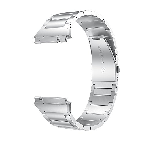 LDFAS Fitbit Ionic Band, Solid Stainless Steel Accessory Metal Bands for Fitbit Ionic Smartwatch, Silver[Updated] by LDFAS