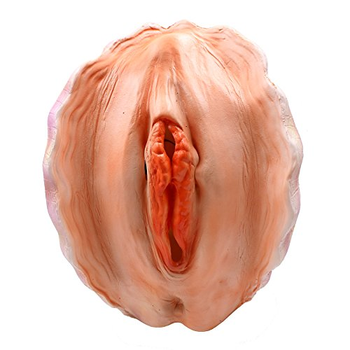 CreepyParty Deluxe Novelty Halloween Costume Party Latex Animal Head Shell Vergina Pussy Mask (Cute Scary Halloween Costumes)