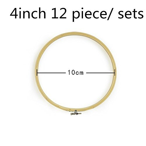 2500 Silk Art Bamboo Circle Tambour Hoop ring 4inch 12 piece/Set for Party Decor Embroidery Cross Stitch CXQ12-10