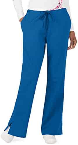 Cherokee Women's Fashionable Flare Leg Drawstring Pant, Aloe, X-Large (Royal, XS, None)