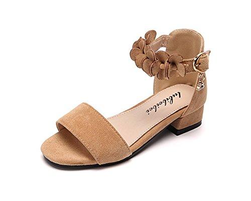 Always Pretty Little Girls Pretty Party Dress Pumps Toddler Girl Heels Shoes Pump Sandals Beige 12 M US Little Kid by Always Pretty