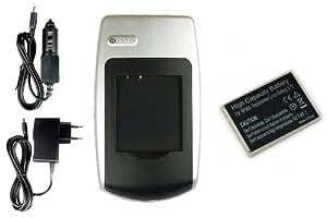 Batería + Cargador Li-80b para Olympus T-100, T-110, X-36