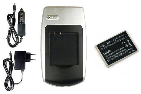 Batería + Cargador Li-80b para Olympus T-100, T-110, X-36 ...