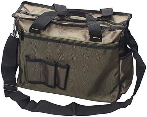 ツールオーガナイザー ツールバッグダブルレイヤーオックスフォード布防水Toolboxの多機能ハンドバッグとショルダーストラップ家庭用工具貯蔵および輸送 ポータブルツールボックス (Color : Gray)
