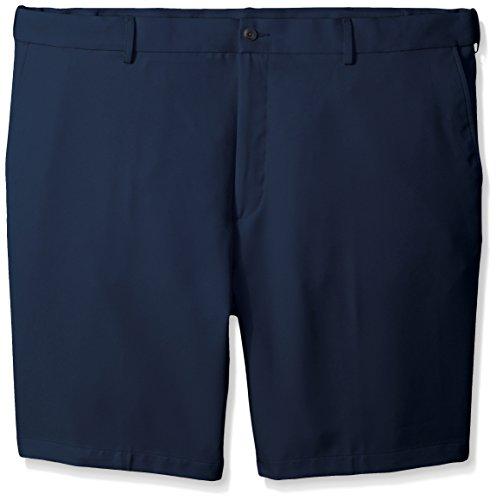 PGA TOUR Men's Big & Tall Expandable Flat Front Short, Black Iris, 46