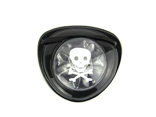 Mammoth Sales LED Light up Pirate Pirate's Eye Patch Cover Halloween Costume Eye Piece (White -