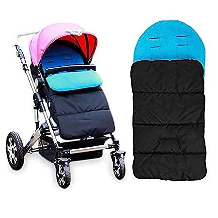 AUVSTAR Baby Schlafsack, Universal 3 in 1 Kinderwagen Anhang Matte Fuß sack Abdeckung Kinderwagen Bunting Tasche Wasserdicht Winddicht Kalt-Beweis Abnehmbar (Blau)