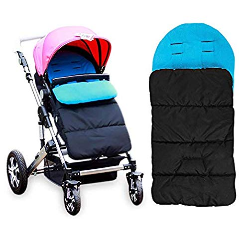AUVSTAR Baby Sleeping Bag, Universal 3 in 1 Stroller Annex Mat Footmuff Cover Stroller Bunting Bag Waterproof Windproof Cold-Proof Detachable (Grey)