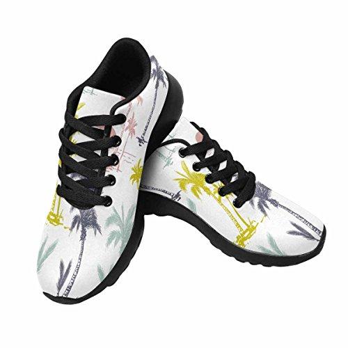 InterestPrint Palm Trees Womens Jogging Running Sneaker Lightweight Go Easy Walking Shoes Multi 1 vfud5zt9B