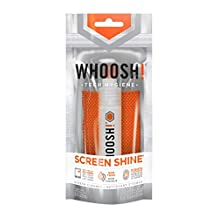 WHOOSH! Award-Winning Screen Cleaning – Safe for all screens – Smartphones, iPads, Eyeglasses, Touchscreen, LED, LCD & TVs – Includes 0.3 oz Bottle + 1 Premium Antimicrobial W! cloth