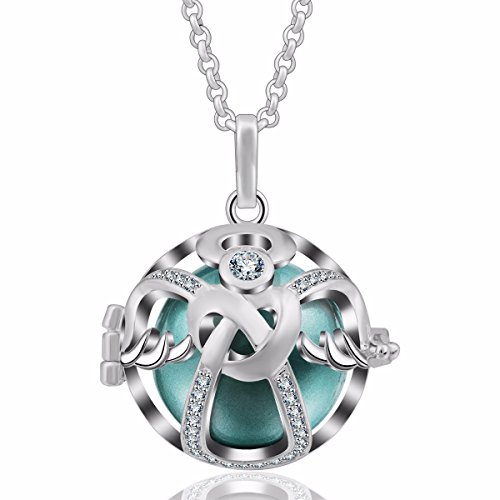 Eudora Harmony Bola Necklace 18Mm Guardian Angel New Year Gift Women Pendant Pregnancy Gift 30  Seagreen
