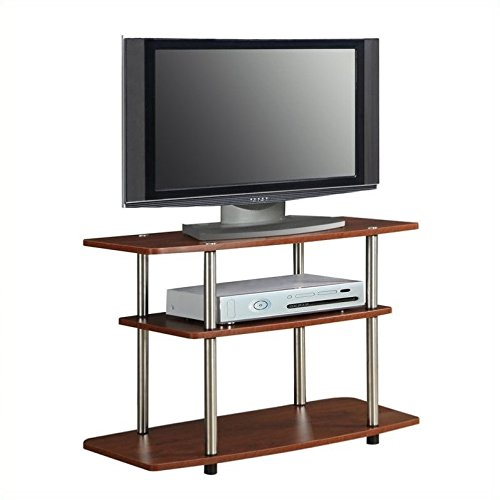 Pemberly Row 3 Tier TV Stand - Cherry by Pemberly Row