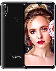 Oukitel C16pro 4G Dual-SIM Smartphone zonder abonnement, voordelig 5,71 inch Android 9.0,3G RAM 32G ROM 128G uitbreidbaar, 8MP+5MP Dual Camera, vingerafdruk of gezicht ontgrendelen, zwart