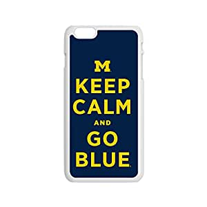 "Keep Calm and Go Blue UltraThin Case Cover for iphone 6 4.7"" with Picture Hard Back Case for Retailing (White) -101110"