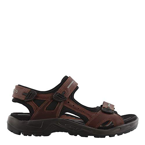 (ECCO Men's Yucatan outdoor offroad hiking sandal, Brandy Lux Leather, 45 EU (US Men's 11-11.5 M))