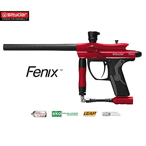 MAddog Spyder Fenix Electronic Paintball Gun - Red (Best Electronic Paintball Gun Under 200)