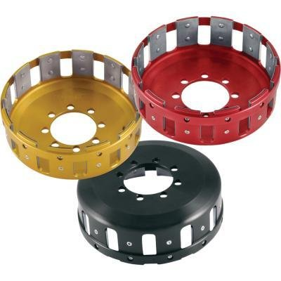 Barnett Performance Products Billet Clutch Basket, Red