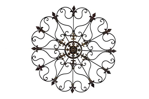 YL Crafts - Metal Mounted Medallion Hand-painted Wall Decor 30