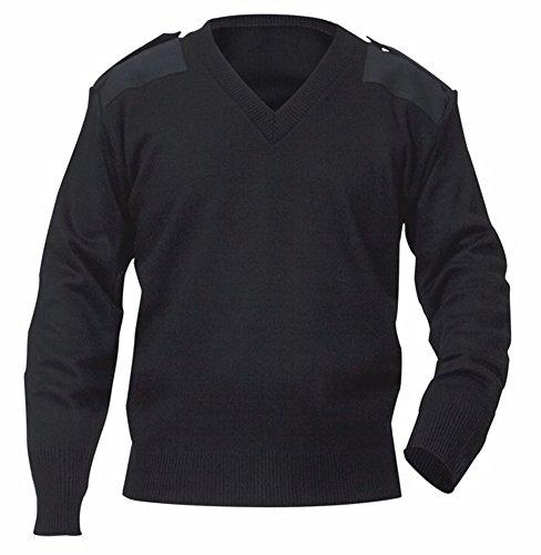 - AEROPhoenix V-Neck Crew Sweater Jersey - Black - Large