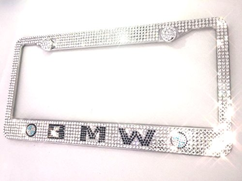 MAX WHOLESALE Ice Out Bling Crystal HandMade Luxury M3 M4 5 6 License Plate Frame s For BMW Cover (Bling License Plate Bmw Frame)