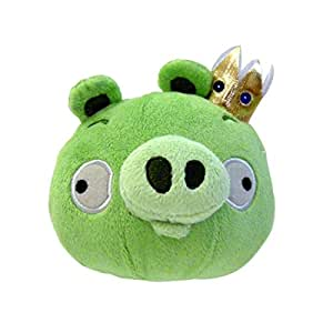 """Angry Birds 8"""" Deluxe King Pig Plush Officially Licensed"""