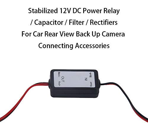 Power Relay Capacitor Filter Rectifiers 12V Connector for Reverse Camera Back