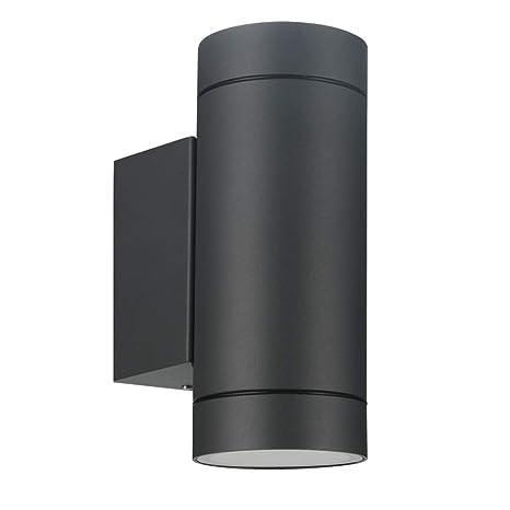 Laside Aussenleuchte Aussenlampe Wand 2x Gu10 Anthrazit Aluminium Up And Down Aussenlampe Aussenleuchte Ip44 Spritzwassergeschutzt Wandlampe