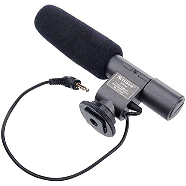 Black SD Professional Stereo Microphone SG-108 for Digital Video