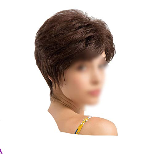 Synthetic Pixie Cut Women Wigs with Natural Bangs
