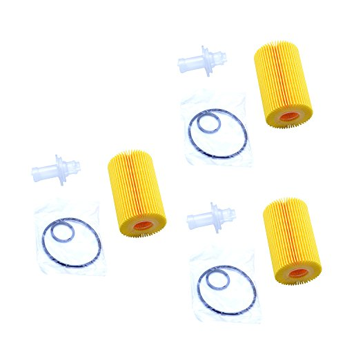 FLYPIG For Toyota 04152-YZZA4 Replaceable Oil Filter Element 1 Case (QTY 3)
