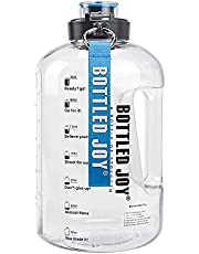 Large Water Bottle 2.5 L BPA Free with Motivational Time Marker Reminder Leak-Proof Drinking Big Water Jug for Camping Sports Workouts and Outdoor Activity
