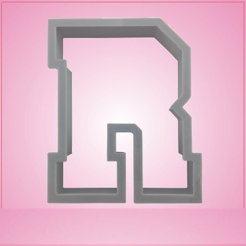 Varsity Letter R Cookie Cutter 3 Inch (Plastic) (Cookie Cutter R Letter)