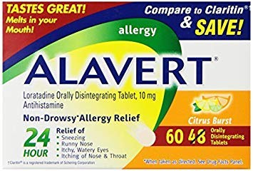 Alavert Loratadine Allergy Orally Disintegrating Tablets Citrus Burst (180 Orally Disintegrating - Alavert Orally Tablets Disintegrating