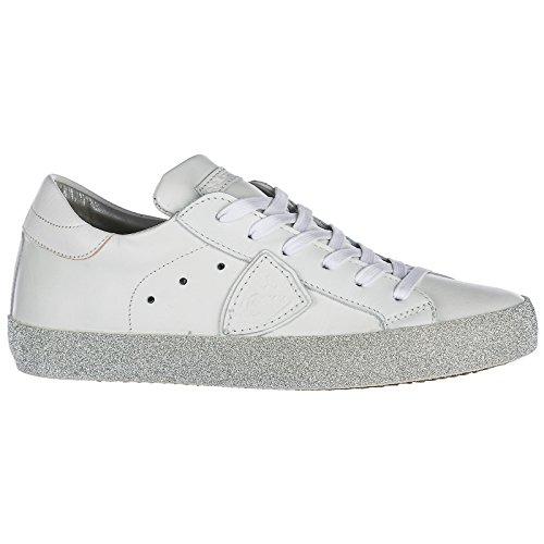 Paris In Donna Pelle Nuove Bianco Model Sneakers Scarpe Glitter Philippe xInvq0w