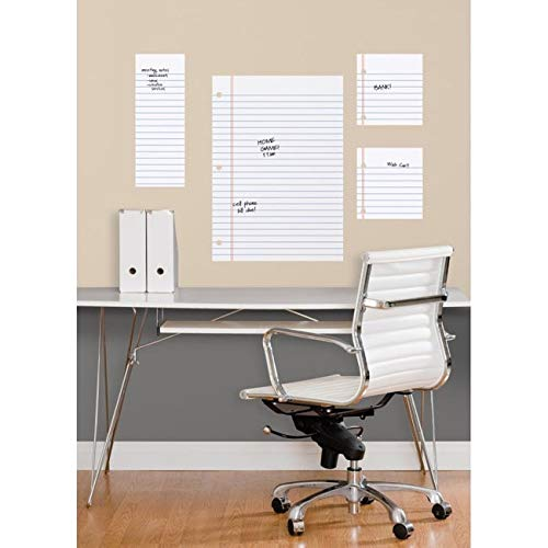 Notebook Paper Dry Erase Peel and Stick Giant Wall Decals Grey by Unknown
