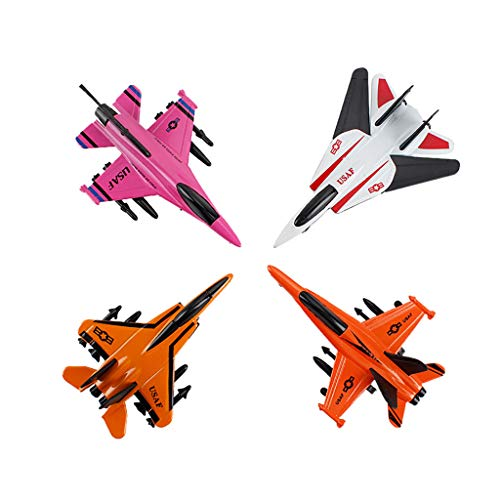 SGYH Miniature Fighter Model Aircraft Alloy Pull Back Airplane for Kids Gift 4-Pack (#B) from SGYH Dollhouse