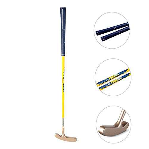 Acstar Two Way Junior Golf Putter Kids Putter Both Left and Right Handed Easily Use 3 Sizes for Ages 3-5 6-8 9-12(Gold Head+Yellow Shaft+Blue Grip,25 inch,Age 3-5)