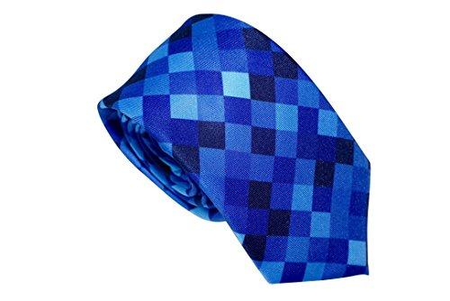 Blue Necktie - Blue Lagoon Pixel Skinny Stylish Skinny - Tie Pixelated