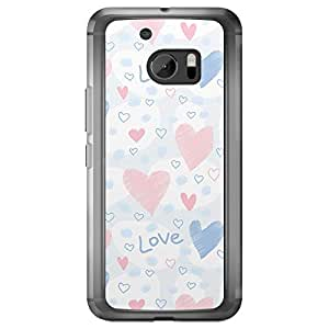 Loud Universe HTC M10 Love Valentine Printing Files Valentine 167 Printed Transparent Edge Case - Multi Color