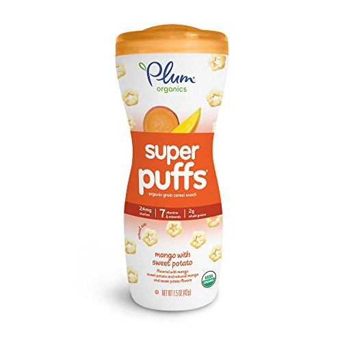 Plum Organics Baby Super Puffs, Mango with Sweet Potato, 1.5 ounce (Pack of (Potato Puffs)